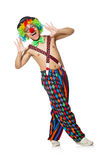 Funny clown isolated on the white Stock Images