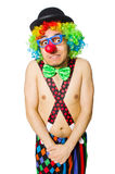 Funny clown Stock Image