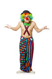 Funny clown isolated Stock Images