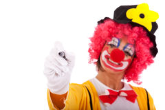 Funny clown message Stock Images