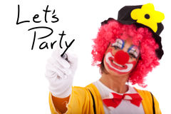 Funny clown message Royalty Free Stock Image