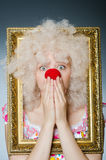 Funny clown Royalty Free Stock Photo