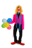 Funny clown in pink Stock Image