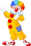 Funny Clown presenting. Illustration of funny clown presenting (showing Stock Images