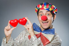 The funny clown with red nose Royalty Free Stock Photography