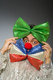 The funny clown with red nose Royalty Free Stock Image