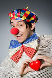 The funny clown with red nose Royalty Free Stock Photos