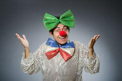 The funny clown with red nose Royalty Free Stock Photo