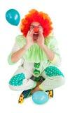 Funny clown shouting at camera Royalty Free Stock Images