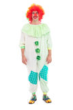 Funny clown smiling at camera Stock Image