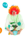 Funny clown smiling at camera Stock Photos
