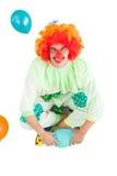 Funny clown smiling at camera Stock Photos