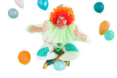 Funny clown smiling at camera Royalty Free Stock Images