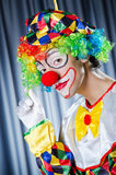 Funny clown in studio Royalty Free Stock Photography
