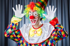 Funny clown in studio Stock Photo
