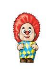 Funny clown vector cartoon Stock Photos