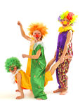 Funny clowns Royalty Free Stock Image
