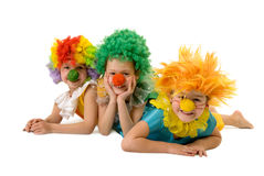 Funny clowns Royalty Free Stock Photo