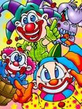 Funny clowns Royalty Free Stock Photo