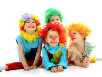 Funny clowns Stock Photos