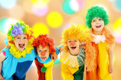 Funny clowns Stock Photos