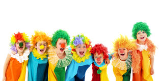 Funny clowns at the party Royalty Free Stock Image