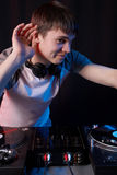 Funny club dj Stock Photography