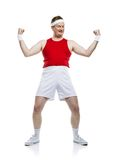 Funny clumsy sportsman Stock Images