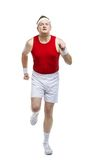 Funny clumsy sportsman Royalty Free Stock Photo