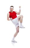 Funny clumsy sportsman Stock Image