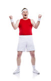 Funny clumsy sportsman Royalty Free Stock Image