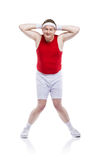 Funny clumsy sportsman Stock Photos