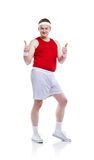 Funny clumsy sportsman Royalty Free Stock Photography