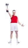 Funny clumsy sportsman Royalty Free Stock Images