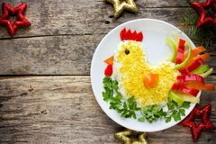 Funny salad symbol of New Year 2017 Royalty Free Stock Images