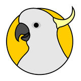 Funny cockatoo. Illustration of funny cockatoo icon vector illustration