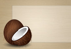 Funny coconut Stock Image