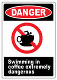 Funny coffee warning sign Royalty Free Stock Photo