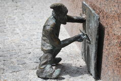 Funny collection of dwarves` statues in Wroclaw, Poland Stock Images