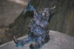 Funny collection of dwarves` statues in Wroclaw, Poland Royalty Free Stock Photo