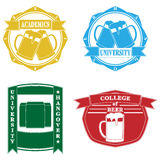 Funny college emblems Royalty Free Stock Photos
