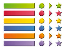 Funny color Buttons and arrows vector illustration