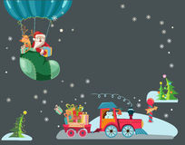 Funny Color Christmas background Stock Photography