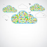 Funny color clouds. Stock Photos