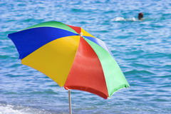 Funny colored beach umbrella Royalty Free Stock Photo