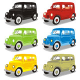Funny colored cars Royalty Free Stock Photography