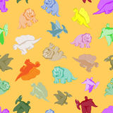 Funny colored dinosaurs Stock Photo