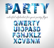 Funny Colorful Alphabet for party flyers or invitation cards Stock Photos