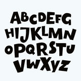 Funny Colorful Alphabet poster for children. Cute cartoon alphabetic letters Stock Photos