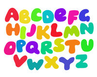 Funny Colorful Alphabet Royalty Free Stock Photo